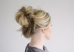bad hair day messy bun